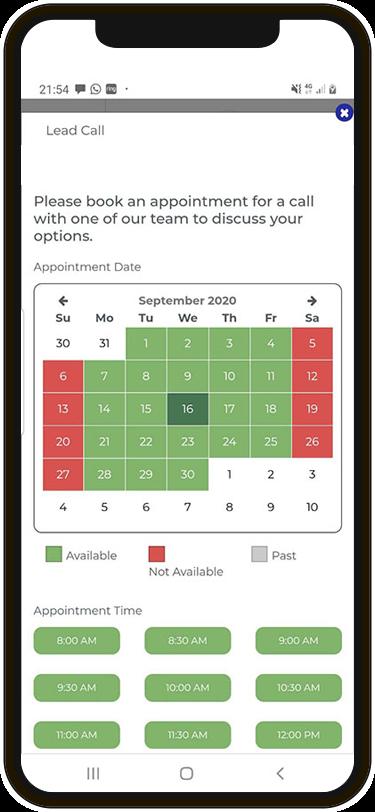 Calendar scheduler