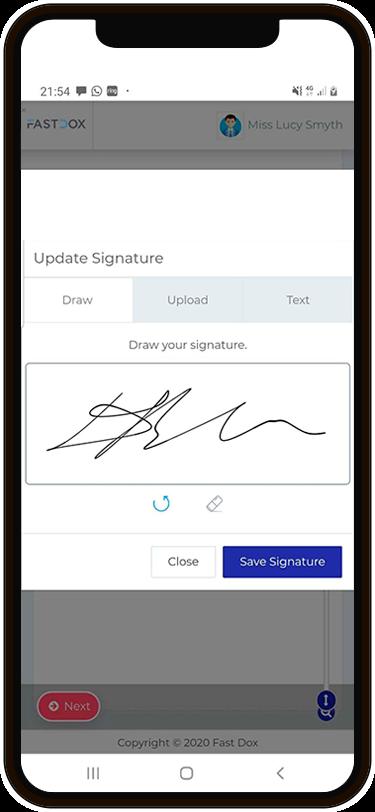 mobile next gen e-signature